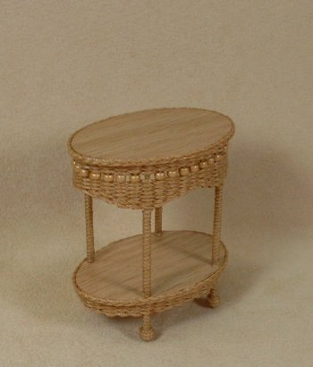 Molly's Two Tier End Table in Honey - Click Image to Close